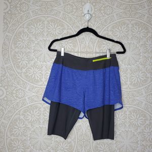 Lucy Two Layer Short Blue Grey S